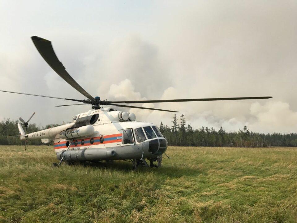 В Сунтарском районе работает авиация МЧС России