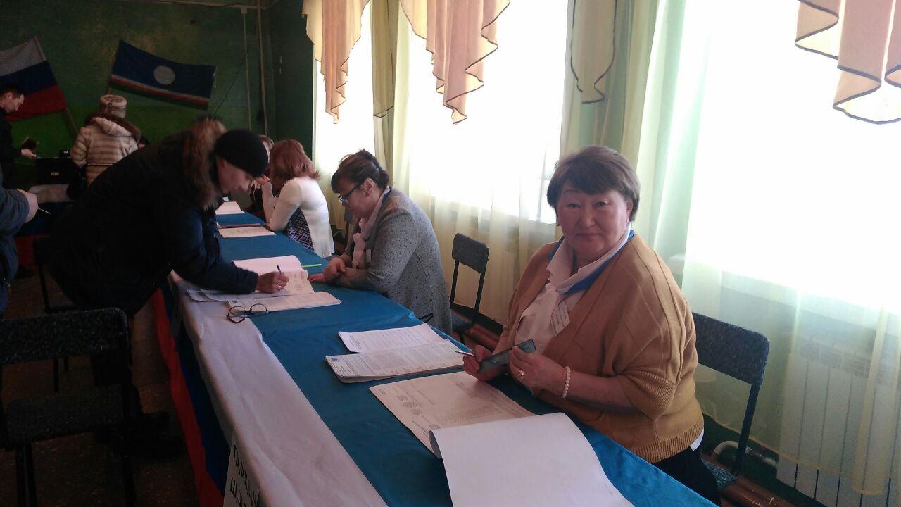 Жители Среднеколымского района выбирают президента России