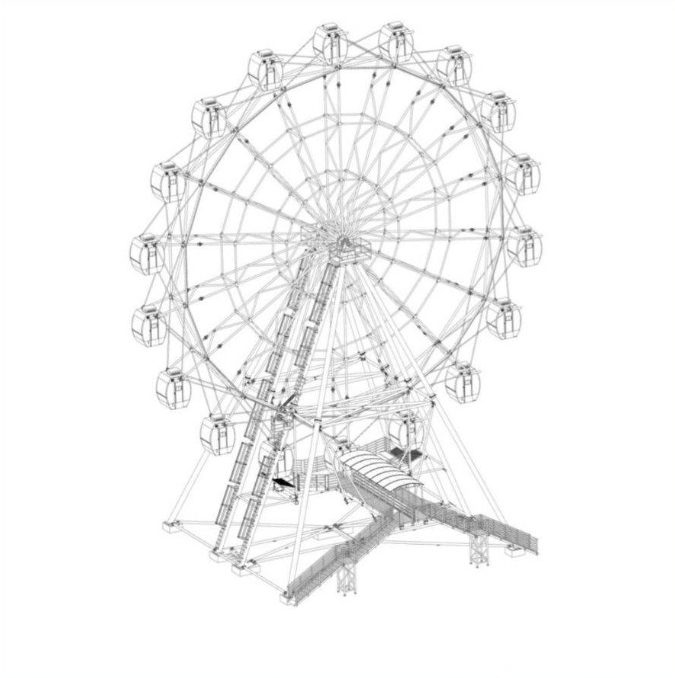 В городском парке Якутска установят 40-метровое колесо обозрения с кабинками