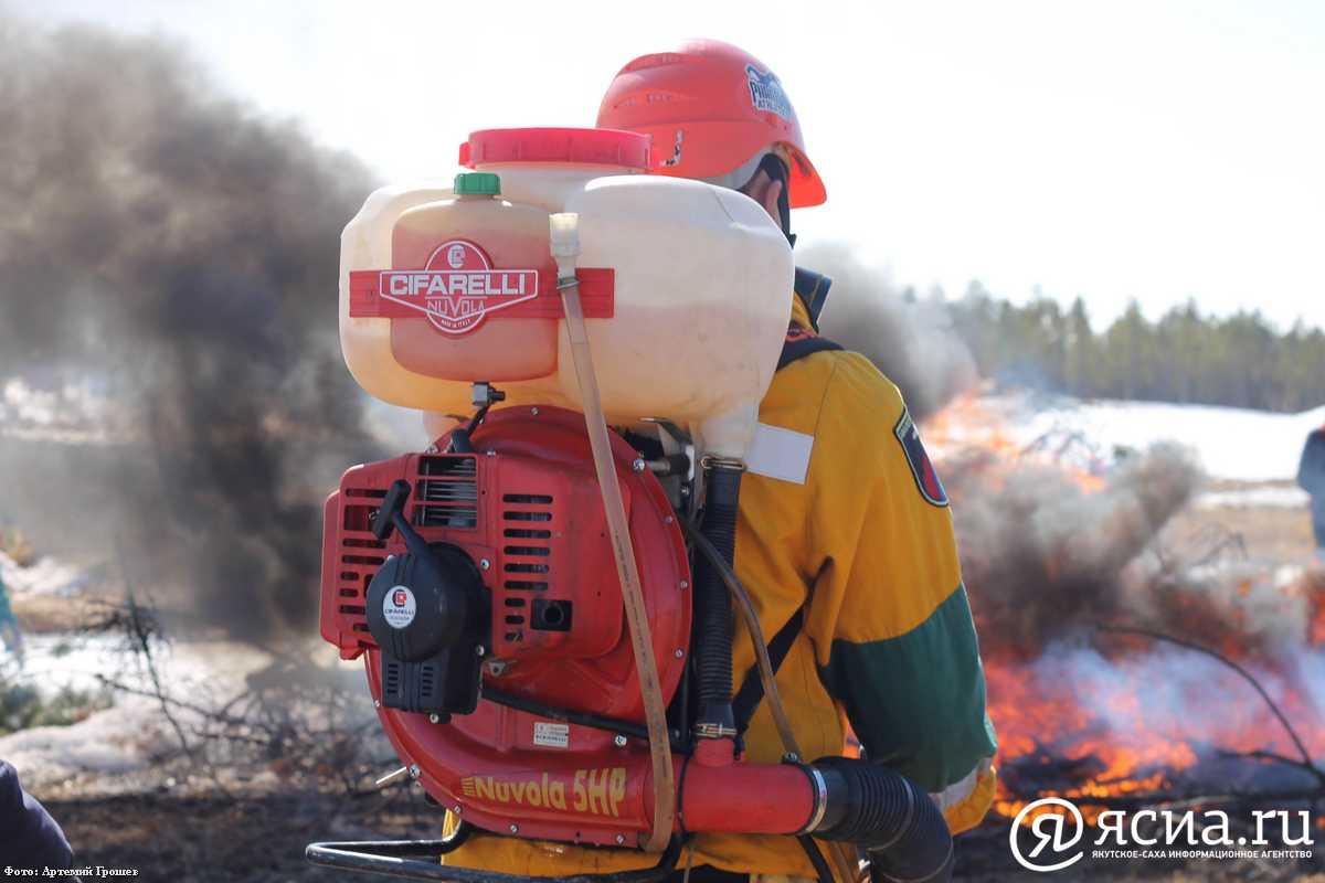 В Якутске провели учения по ликвидации лесных пожаров
