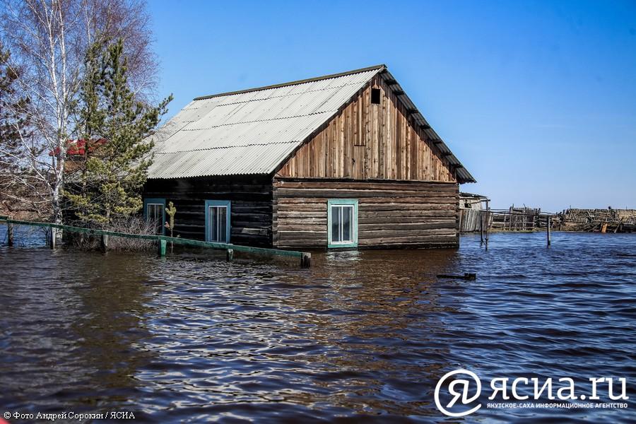 Подтопленное село Октемцы в объективе ЯСИА