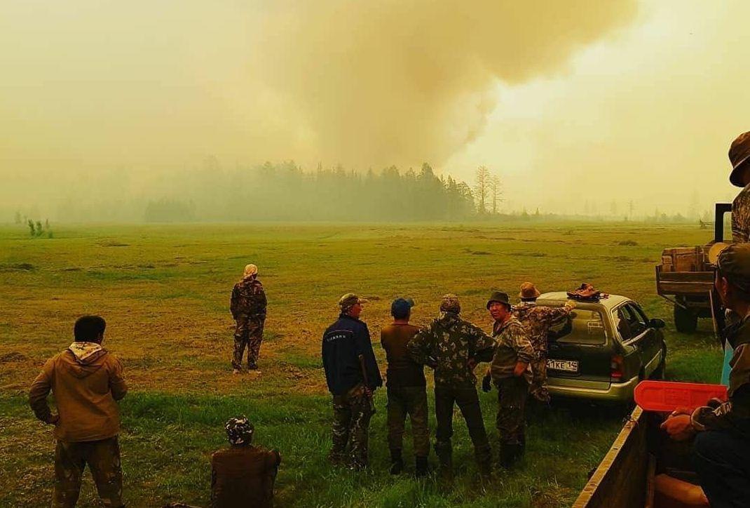 В Горном улусе действуют четыре пожара