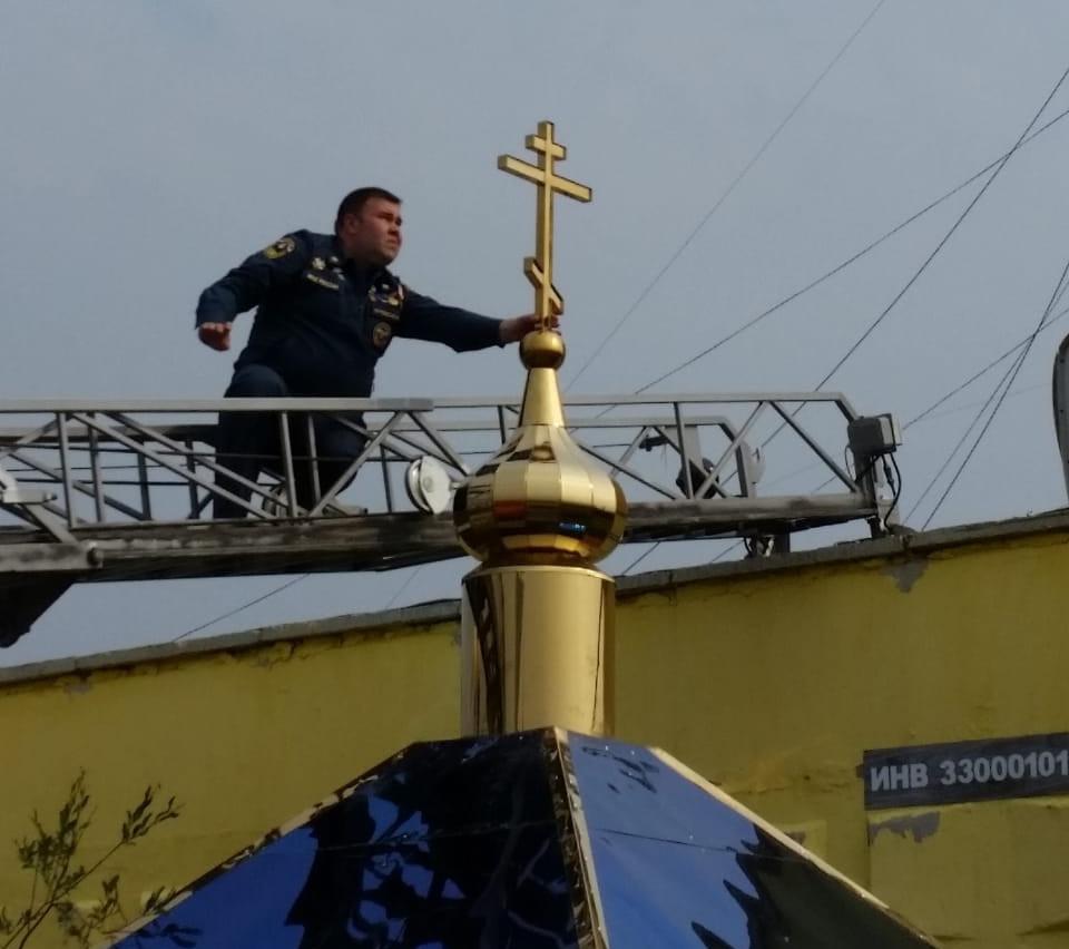 На территории пожарной части вАйхале возвели часовню