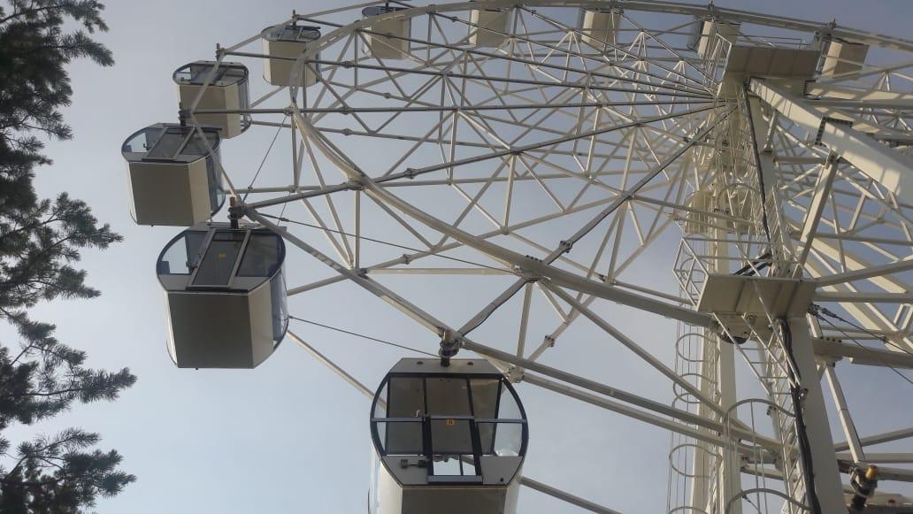В городском парке Якутска запустили новое колесо обозрения