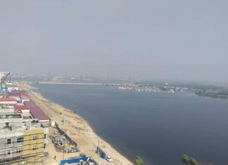 В Якутске подтоплен городской пляж