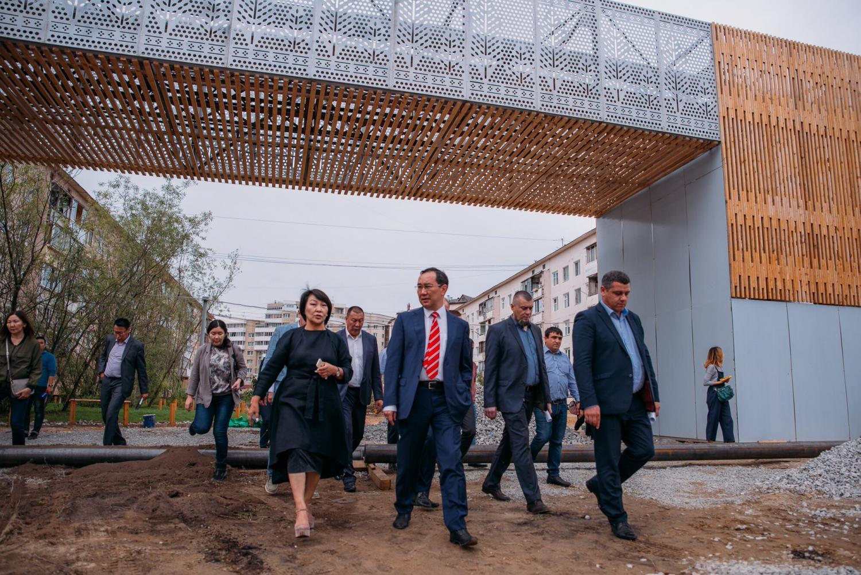 Айсен Николаев проверил готовность объектовкомфортной городской среды