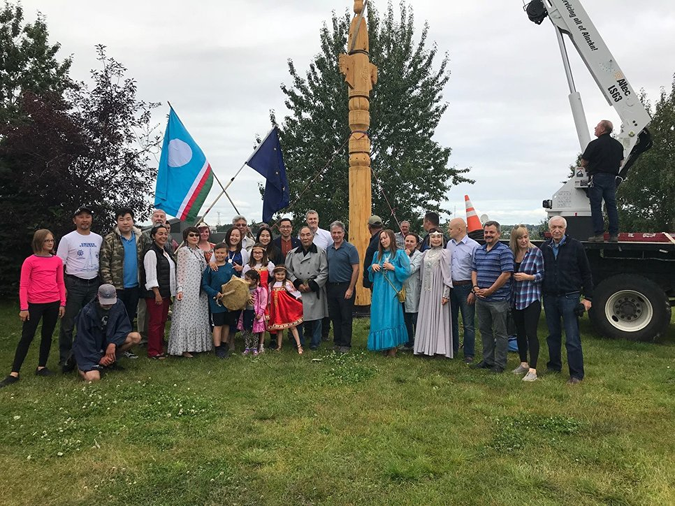Якутская диаспора установила сэргэ в Анкоридже