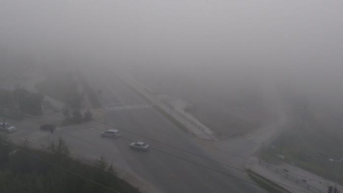 Туман в Якутске