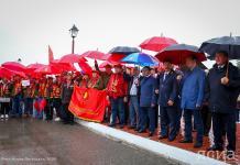 """В Нижнем Бестяхе торжественно встретили агитпоезд """"Комсомольская правда"""""""