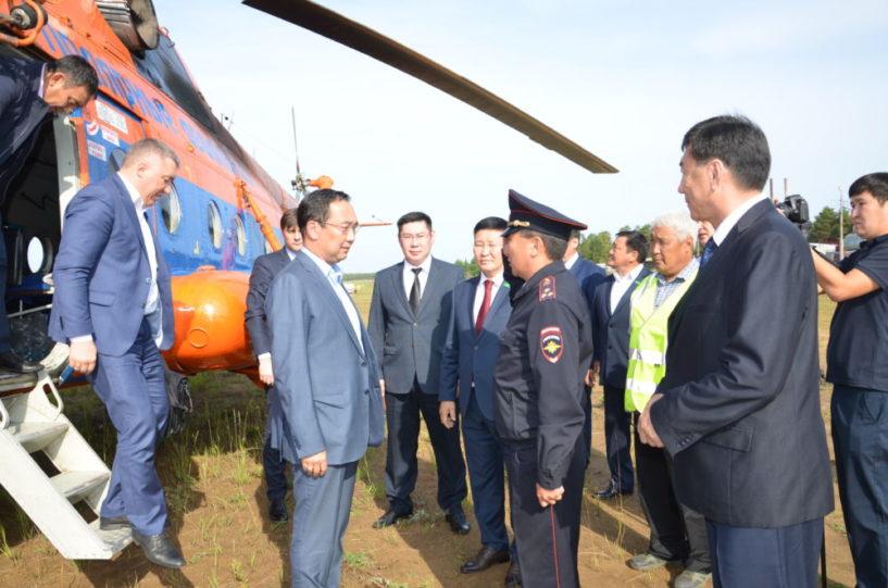 Айсен Николаев дал ряд поручений по итогам облета загрязненных рек