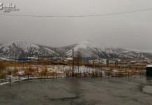 В Депутатском выпал снег