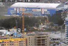 Две новые камеры на высоте 128 метров установили на телебашне Якутска