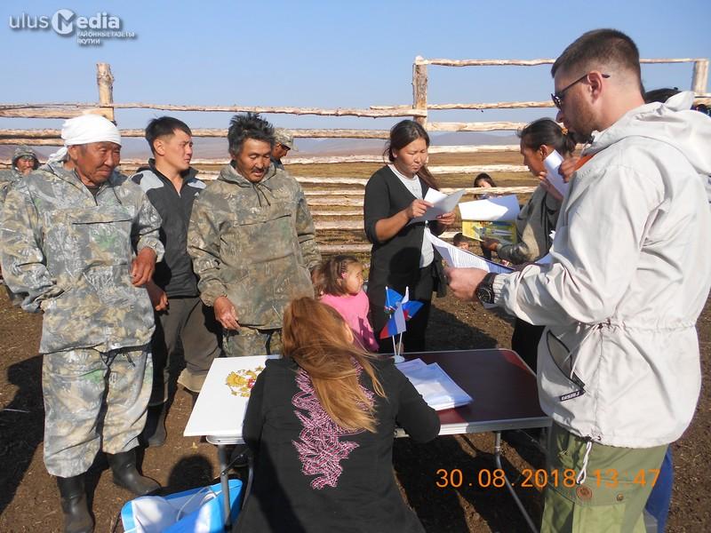 Работники оленеводческой бригады в Усть-Янском улусе проголосовали досрочно
