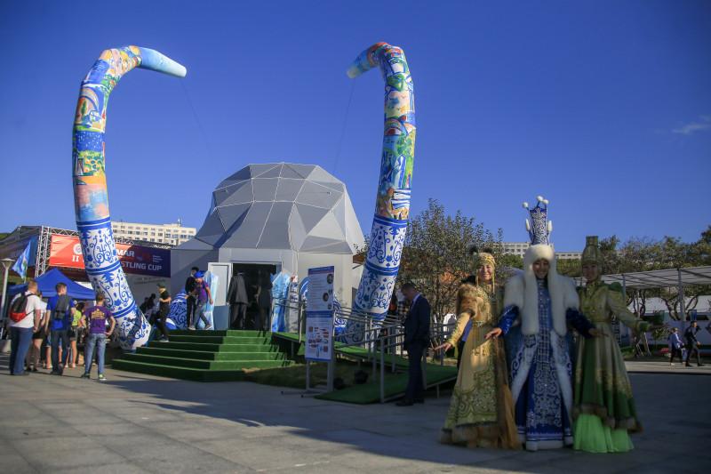 Павильон Якутии удивляет посетителей ВЭФ 3D-мамонтенком и морозным воздухом
