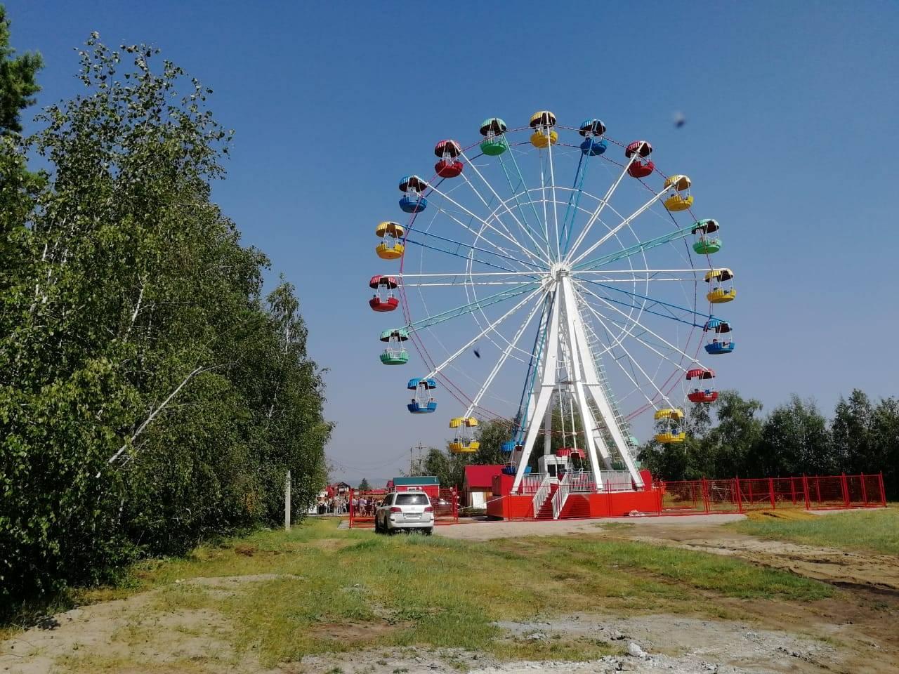 Старое колесо обозрения в Хангаласском улусе работало с нарушениями