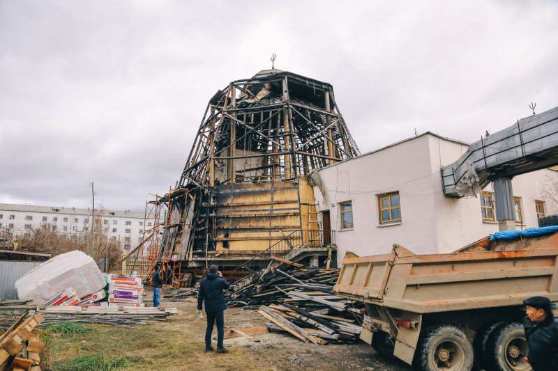Дом Арчы восстанавливают после пожара
