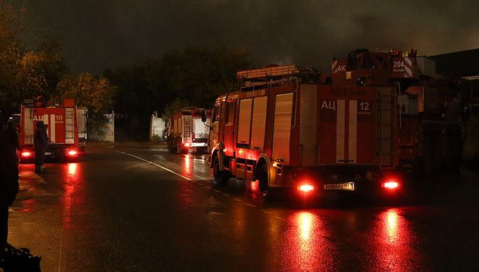 Пожар на заводе во Владикавказе потушен