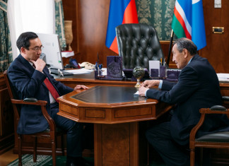 Айсен Николаев встретился с президентом Академии наук Якутии
