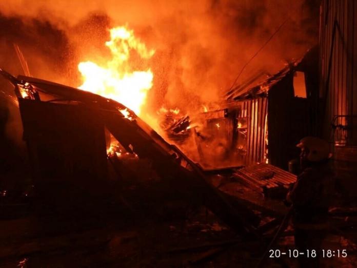 В Жиганске сгорела котельная