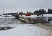 Сегодня демонтирован наплавной мост через р.Тюкян трассы Вилюй