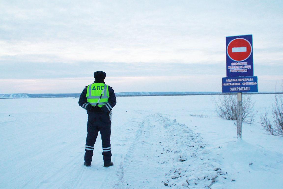 Проезд закрыт: Автозимник Соттинцы-Кангалассы патрулируют инспекторы