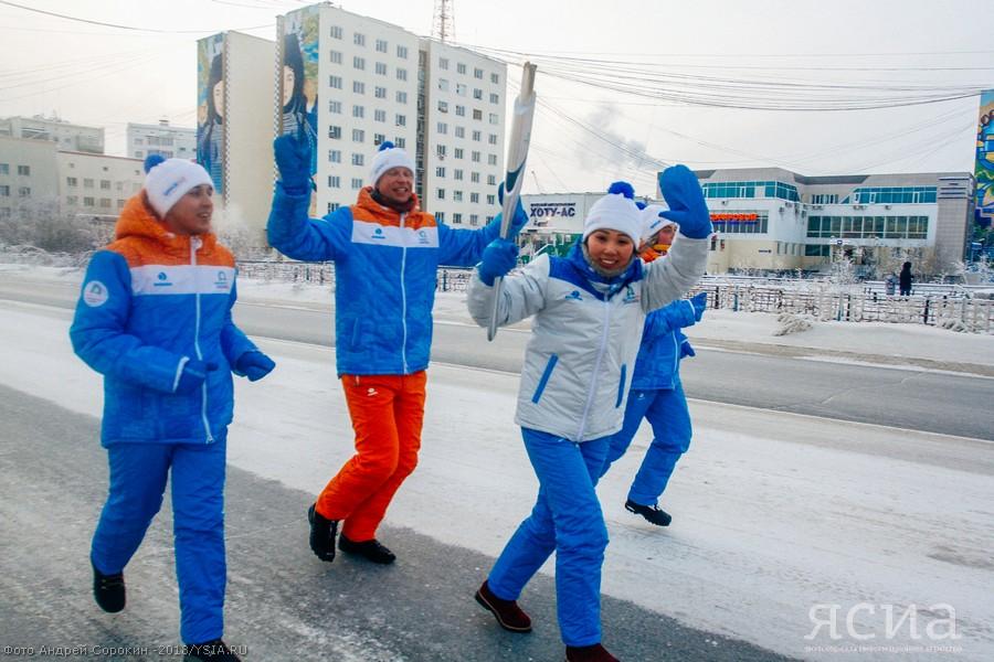 В Якутске состоялась эстафета огня Первых зимних игр «Дети Азии»