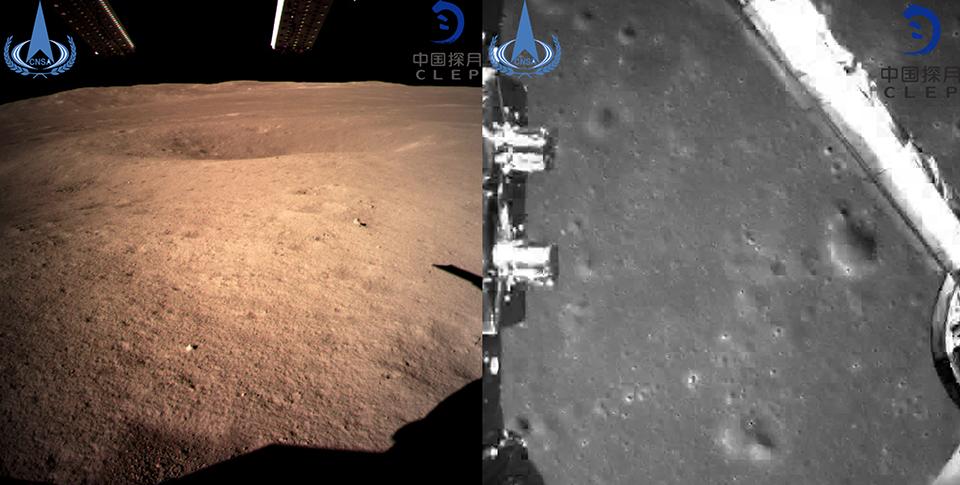 Китайский зонд сделал первые в мире снимки обратной стороны Луны