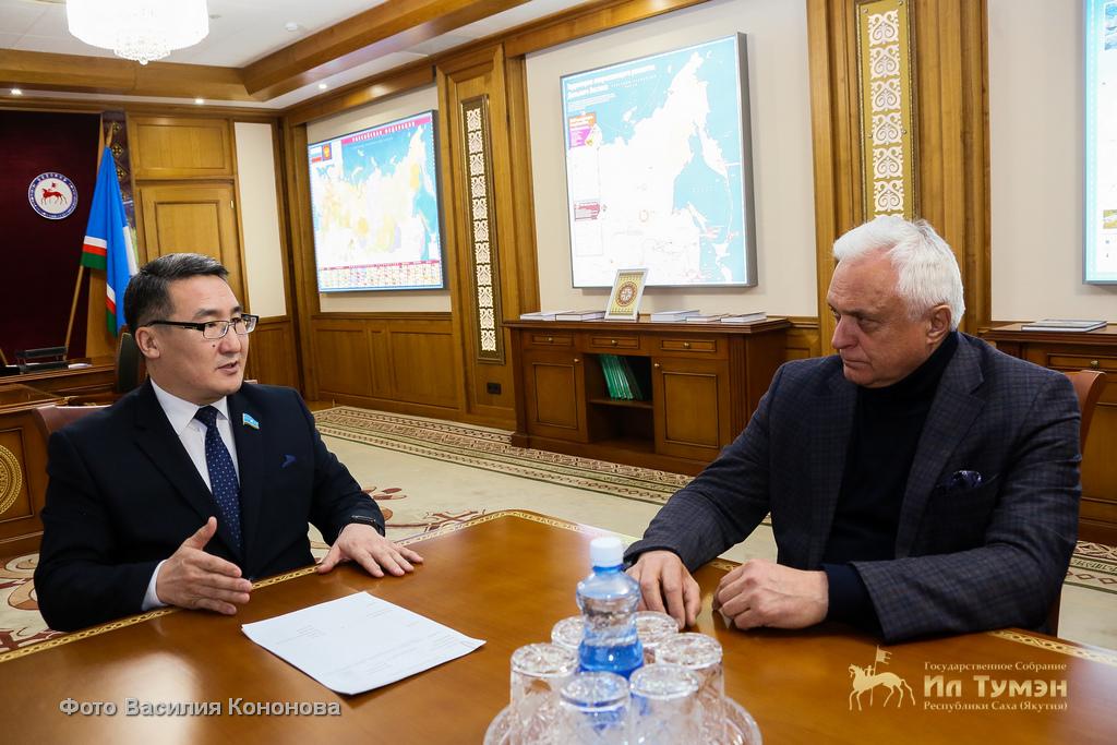 Петр Гоголев встретился с заместителем секретаря Общественной палаты РФ Александром Точеновым
