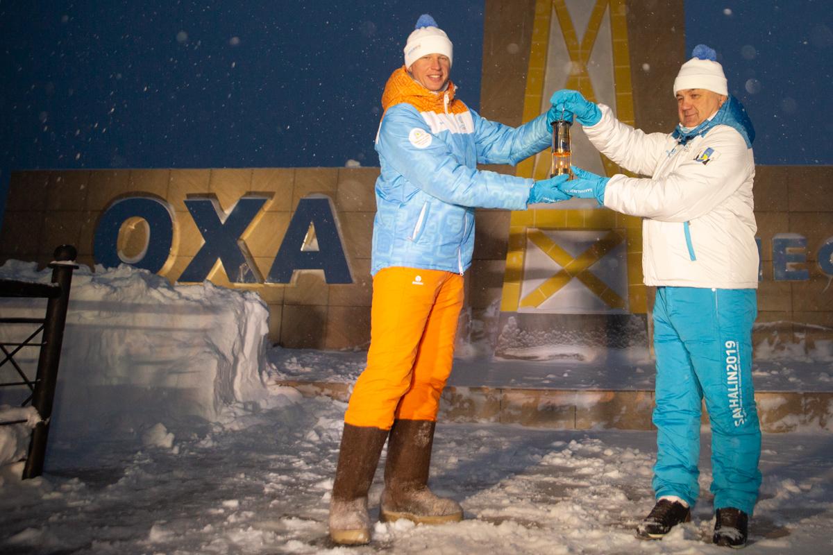 Огонь первых зимних игр «Дети Азии» сквозь метели пробился в Оху
