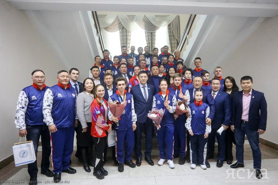 В Якутске чествовали призеров и участников зимних игр «Дети Азии»