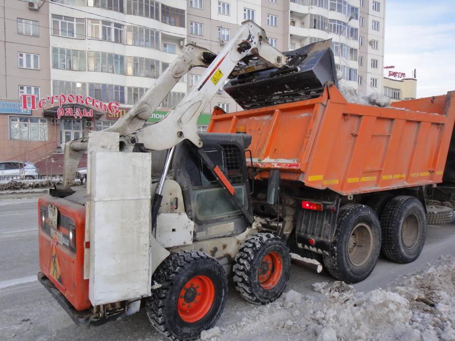 Уборка снега техникой екатеринбург