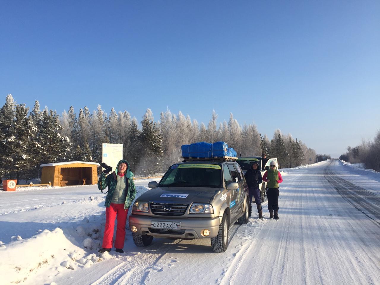 Автоледи отправились в благотворительный пробег в Таймылыр