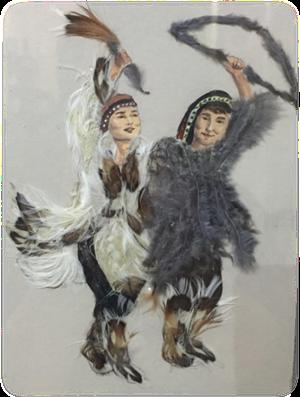 Картины из перьев утки презентуют в Национальной библиотеке Якутии