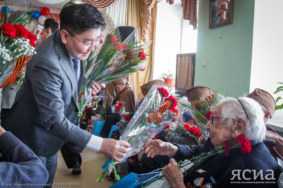 В республиканском доме-интернате поздравили ветеранов с Днём Победы