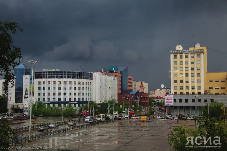 Завтра в Якутске прогнозируют дождь, грозу и сильный ветер