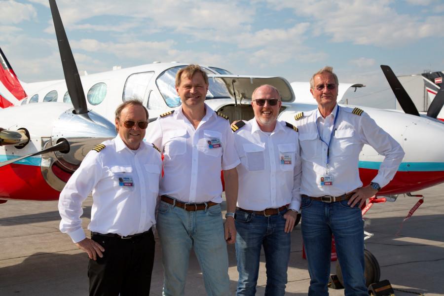 Команда авиаторов, совершающих кругосветное путешествие, посетила Якутск