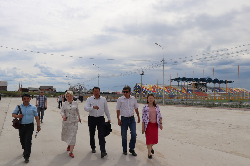 Ольга Балабкина проверила готовность амгинцев к VII Спортивным играм народов Якутии