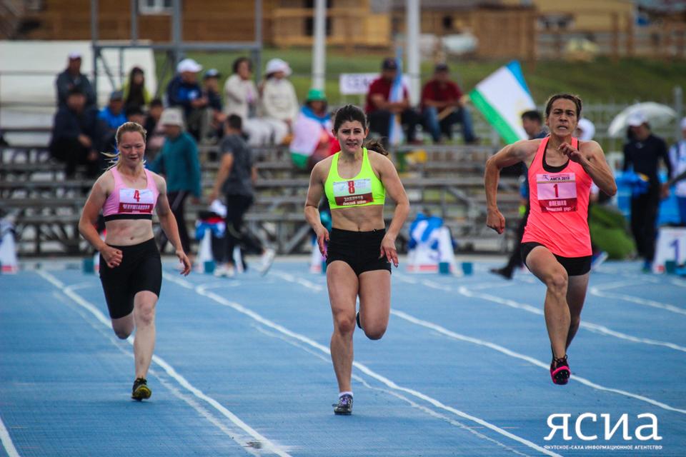 Победительницей Игр народов в Амге на стометровом забеге стала Татьяна Олешко