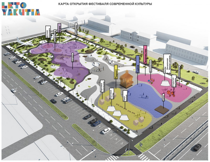 Фестиваль «LETO.YAKUTIA» стартует 20 июля в новом сквере «Ворота Якутска»