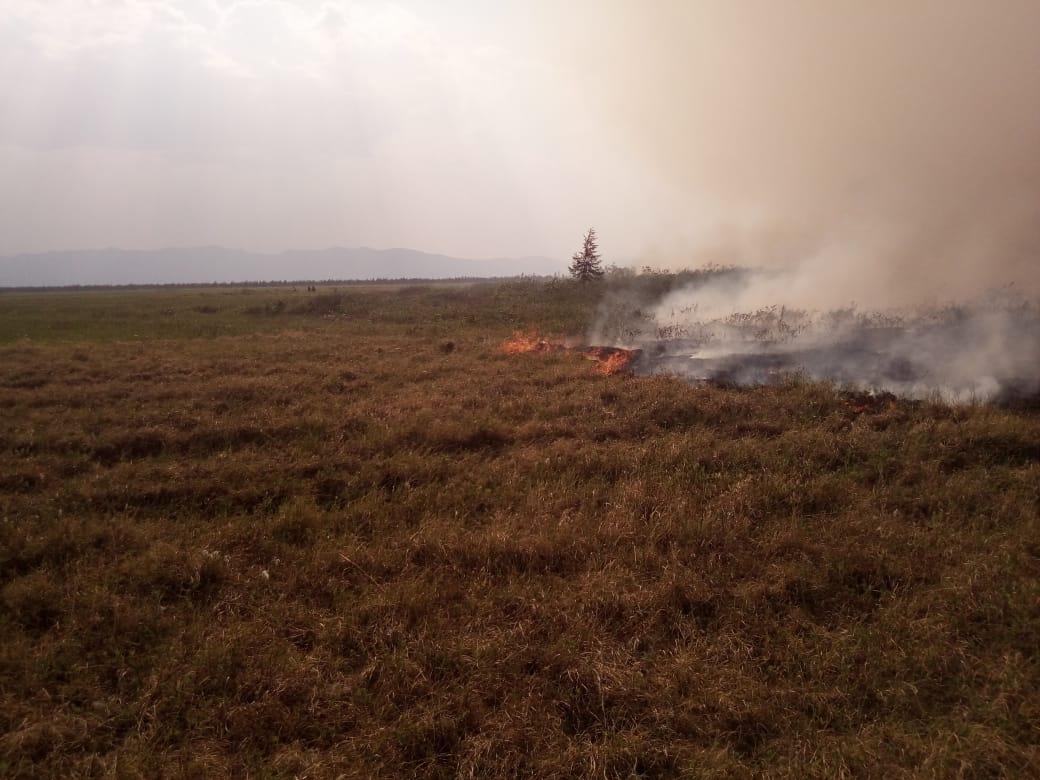 Пожары в Усть-Янском районе не угрожают населенным пунктам