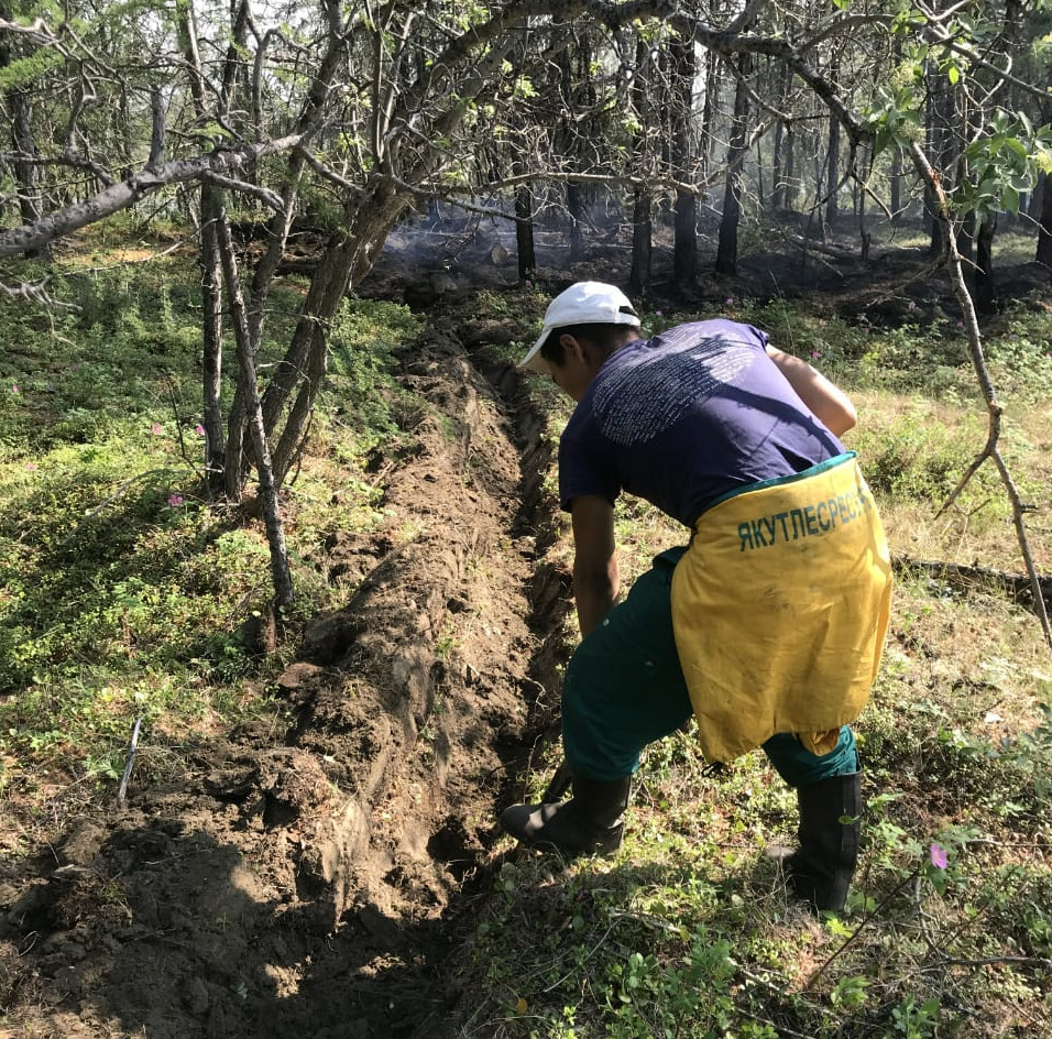 В Якутии ведут работы по тушению 11 лесных пожаров