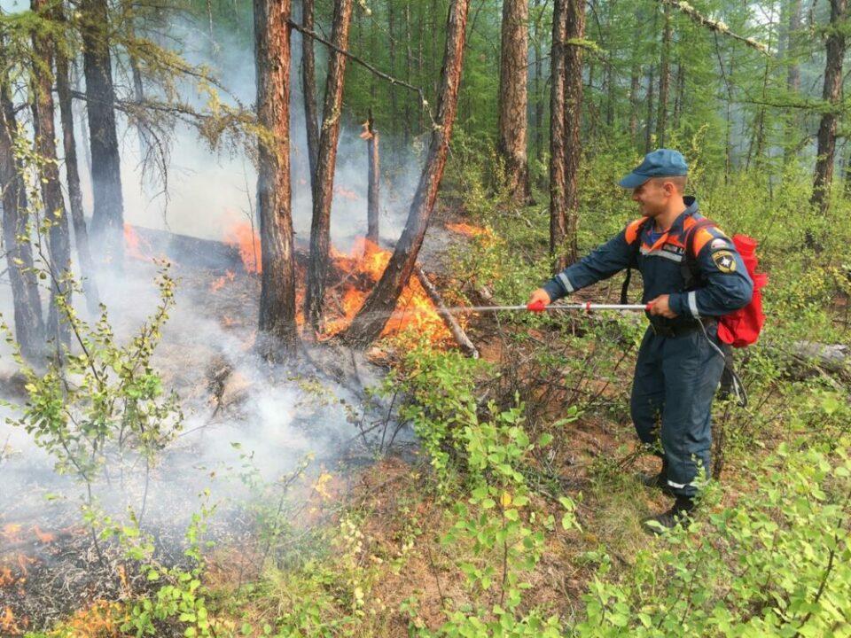 Около села Магарас Горного улуса Якутии тушат два лесных пожара