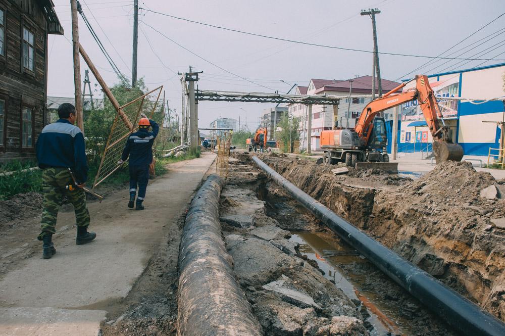 Вниманию жителей Якутска: На улице Петра Алексеева проводятся испытания газопровода