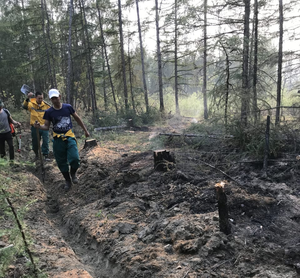 В Якутии, по данным на 13 августа, действуют 12 лесных пожаров