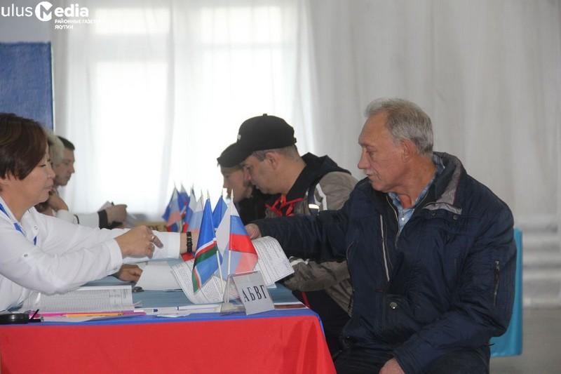 В Нижнеколымском улусе к 15.00 проголосовало 33,12% избирателей