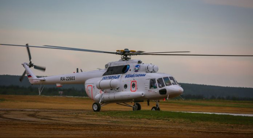 Ми-8 «Полярных авиалиний» вылетел на поиски пропавшего в Оймяконье вертолета