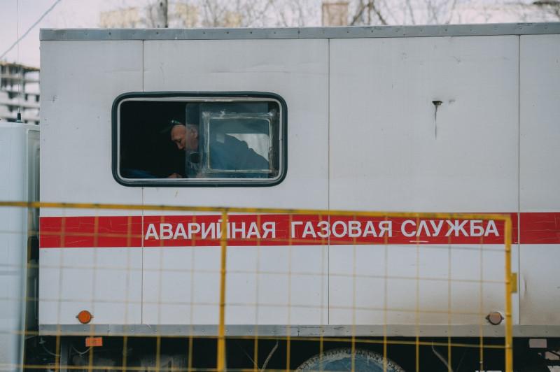 Улицу Лермонтова Якутска перекрыли из-за утечки на газопроводе