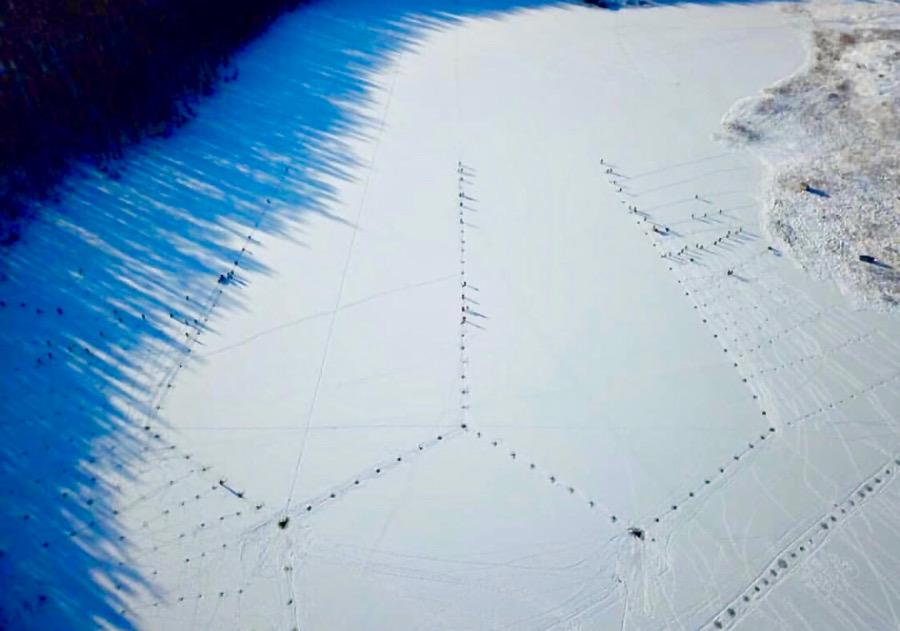 ФОТОФАКТ. Мунха в Амгинском районе Якутии с высоты птичьего полета
