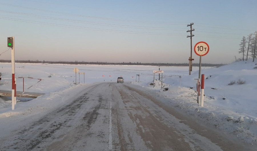 Увеличена грузоподъемность двух ледовых переправ на трассе А-331 «Вилюй»