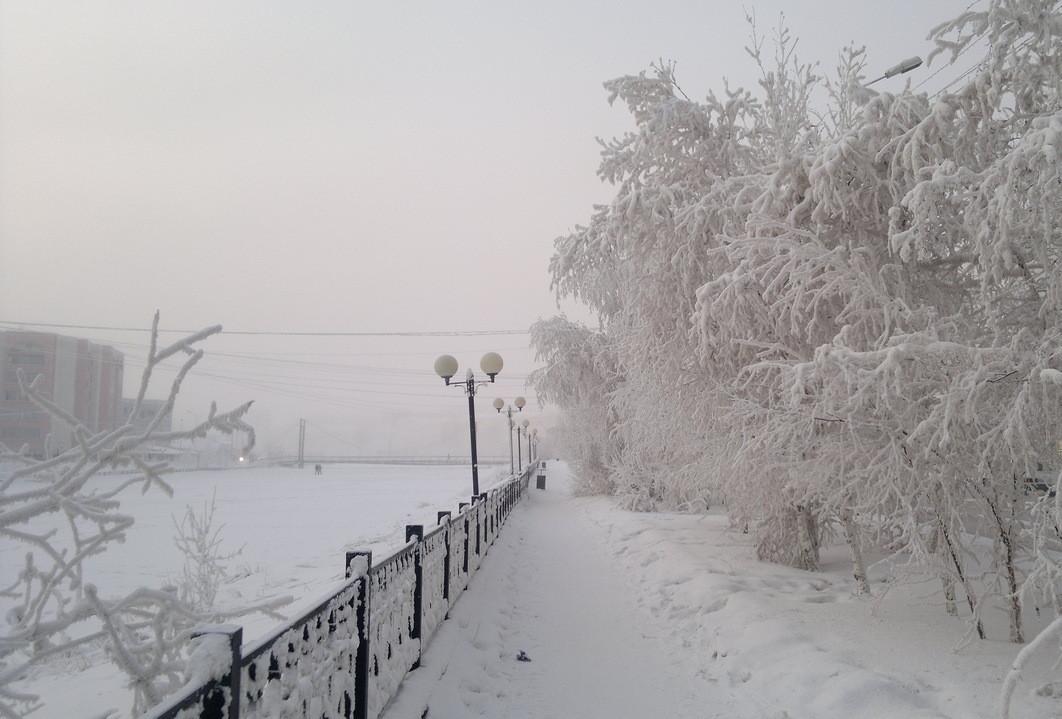 Потепление до -27 градусов ожидается в выходные в Якутске